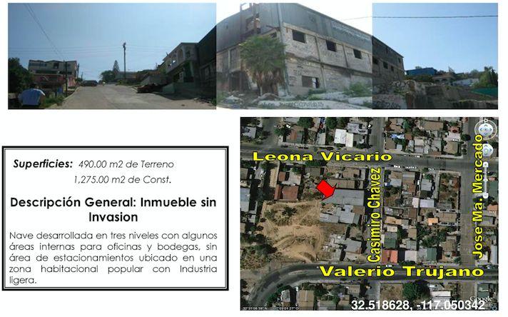 Propiedades.org.mx Portal Inmobiliario de Tijuana, B.C.: Nave Industrial Adjudicada en Venta en Casimiro Ch...