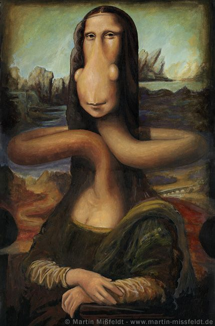 Mona Lisa Cartoon [Martin Mißfeldt] (Gioconda / Mona Lisa)