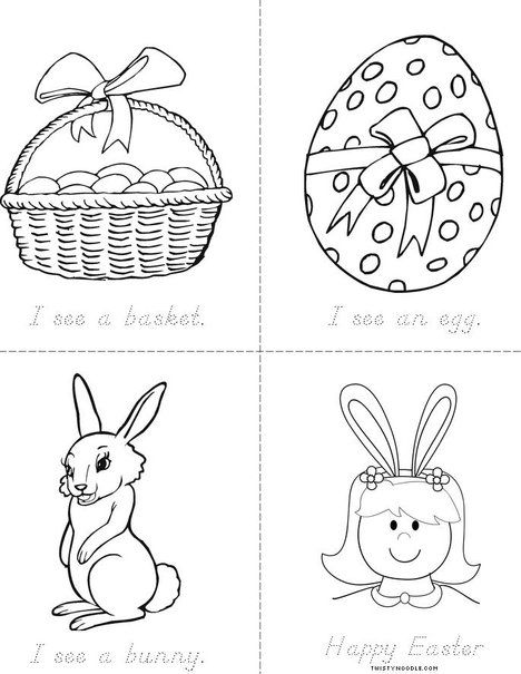 17 Best Images About Easter Coloring Pages Worksheets Mini Books On Pinterest