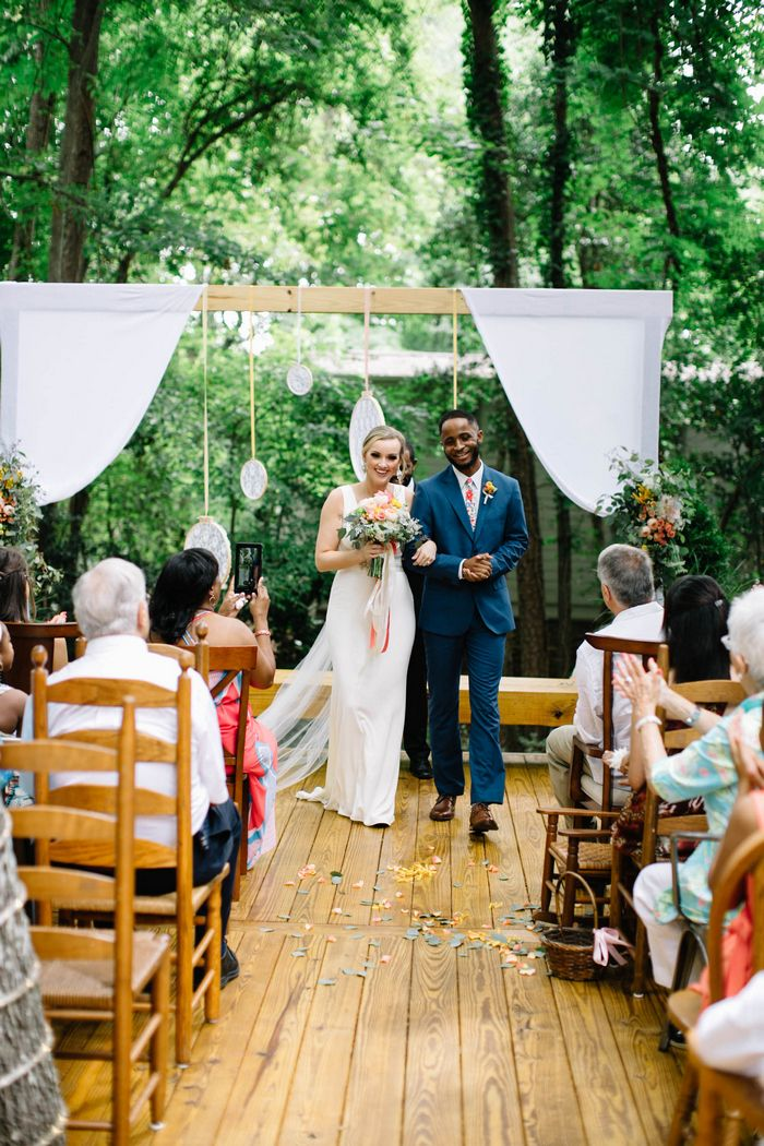 small intimate weddings southern california%0A Hali   Brandon u    s Lake Hartwell at Home Wedding