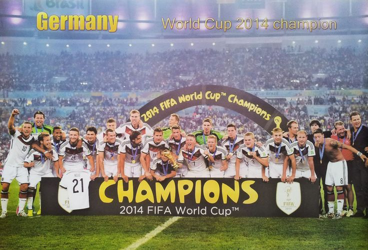 "GERMANY CHAMPIONS 2014 FIFA WORLD CUP POSTER 23""x34"" Football Team FREE SHIPPING  