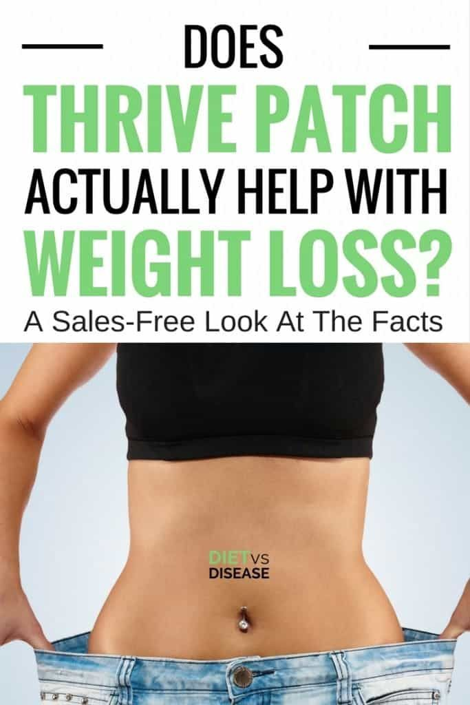 "Thrive Patch is a weight loss patch placed directly on your skin.Some have touted it to be a ""weight loss wonder,"" but do actual results reflect this bold statement?This article reviews how Thrive Patch supposedly works and whether or not it can actually help you lose weight. #dietitian #nutritionist #diet #thrivepatch #weightloss #loseweight"