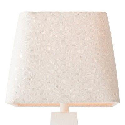 Herringbone Textured Rounded Square Lamp Shade Cream (Ivory) - Threshold