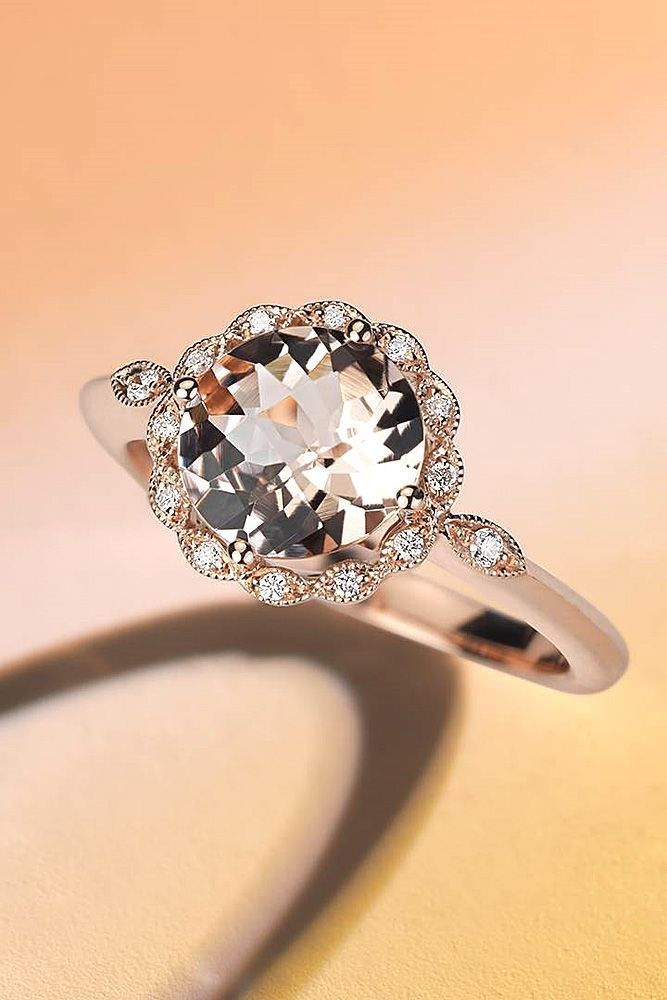 18 Rose Gold Engagement Rings That Melt Your Heart ❤ Rose gold engagement rings have a feminine and romantic look. See more: http://www.weddingforward.com/rose-gold-engagement-rings/ #wedding #engagement #rings