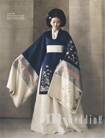 혼례복 한복 Hanbok : Korean traditional clothes[dress]  | #ModernHanbok #wedding (346×455)