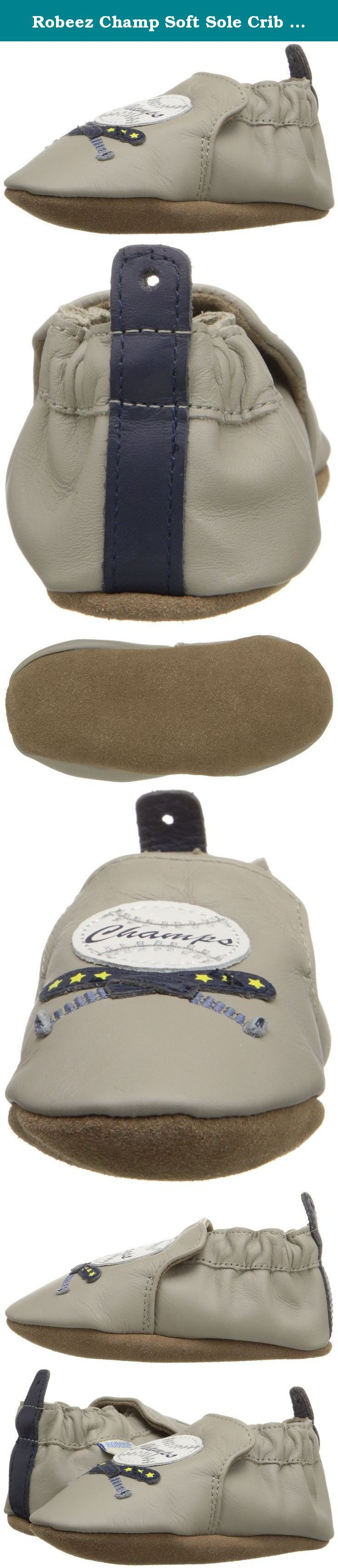 Robeez Champ Soft Sole Crib Shoe (Infant), Cool Grey, 18-24 Months M US. Robeez has been providing the premiere choice of infant footwear since 1994, maintaining the quintessential combination of fit and functionality with whimsy and innovative designs.