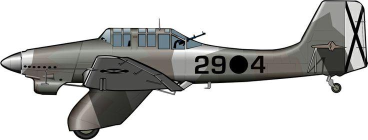 Uno de los seis Ju87A que según parece llegaron a España.