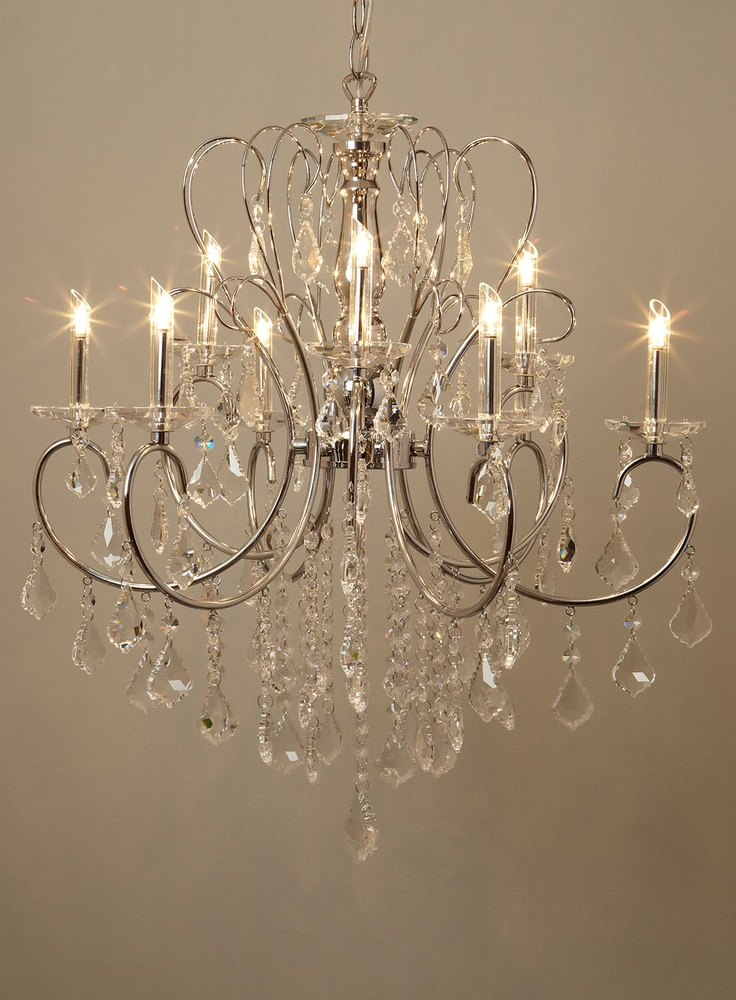 Bhs lighting democraciaejustica silver kinnari 9 light chandelier ceiling lights aloadofball Images