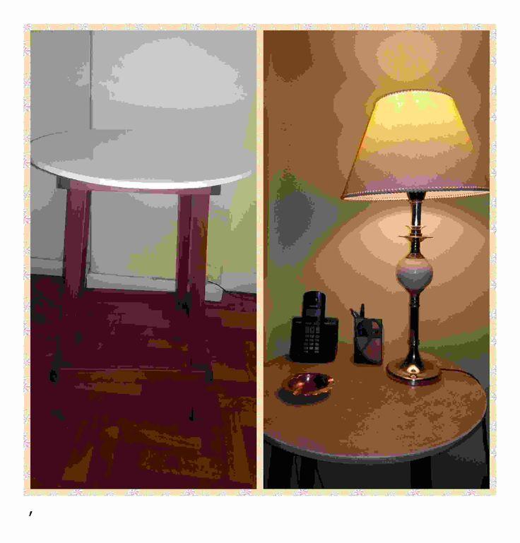 Mesa restaurada! las patas son del color original de la madera y la tapa fue pintada con chalk paint.
