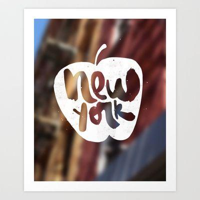 New York: The Big Apple. Art print.