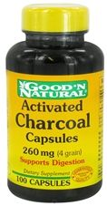 Good 'N Natural - Activated Charcoal Capsules 260 mg. - 100 CapsulesSupports Digestion, 3.59$, *CAN BREAK OPEN TO USE ON SKIN ALSO
