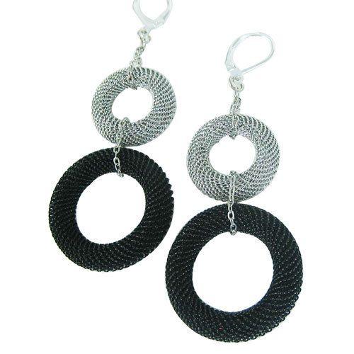 Fun earrings! 2 Shades of Grey Earrings. Urban Jewelry for Confident Women. #moderngift @pinkixxjewelry