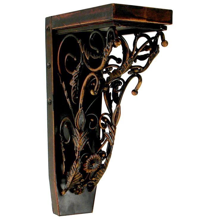 Chateau 4.25 In X 13 In Oiled Bronze Handmade Detail Iron Corbel Jcor3