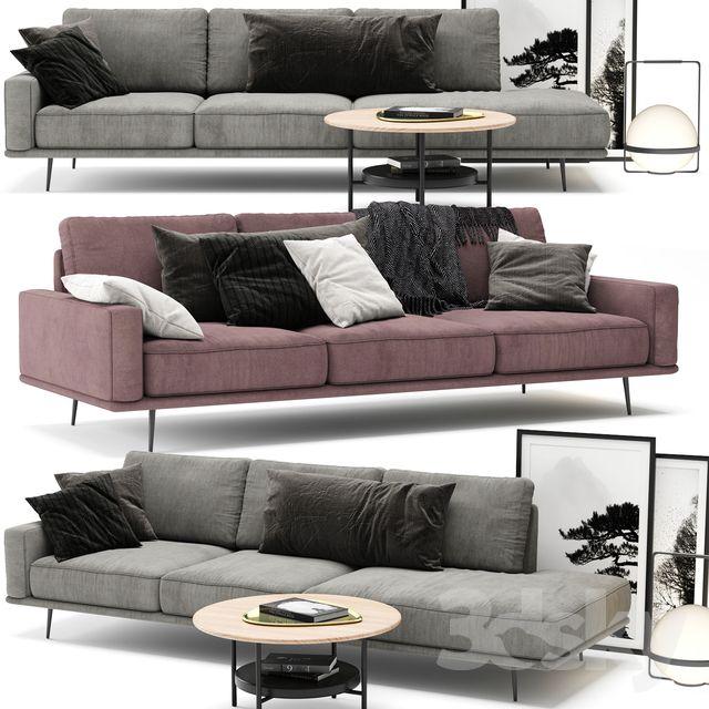 3d Models Sofa Boconcept Carlton Sofa A