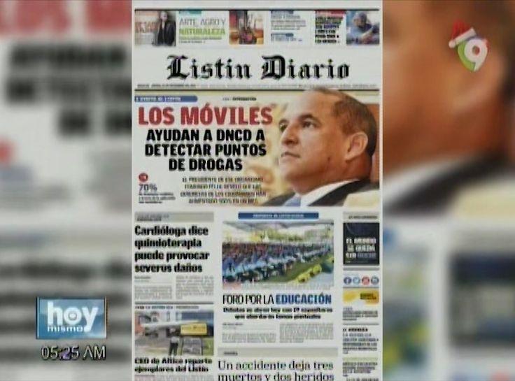 Hoy Jueves 23 De Noviembre Inicia El Día Informado Con Las Portadas De Los Principales Periódicos Del País.