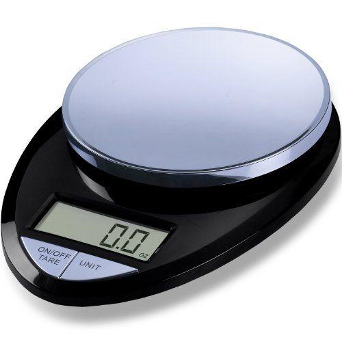 EatSmart Precision Pro Digital Kitchen Scale Black Chrome