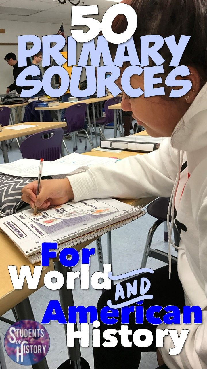 Fifty awesome primary source activities for World and American History! A perfect one for every unit of the year!