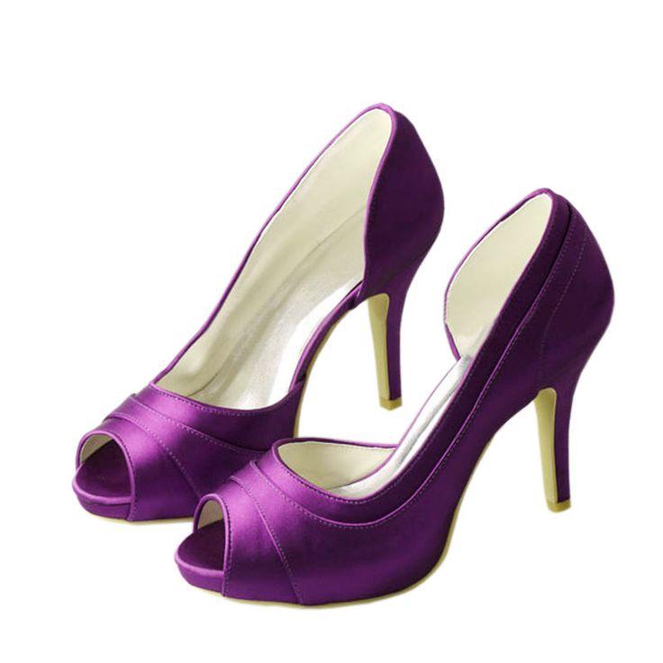 Talones Altos Women's Wedding Super High Heels Peep Toe Party Pearl String Satin Bridal Bridesmaid's Shoes Pumps 521-25-2 ZHL
