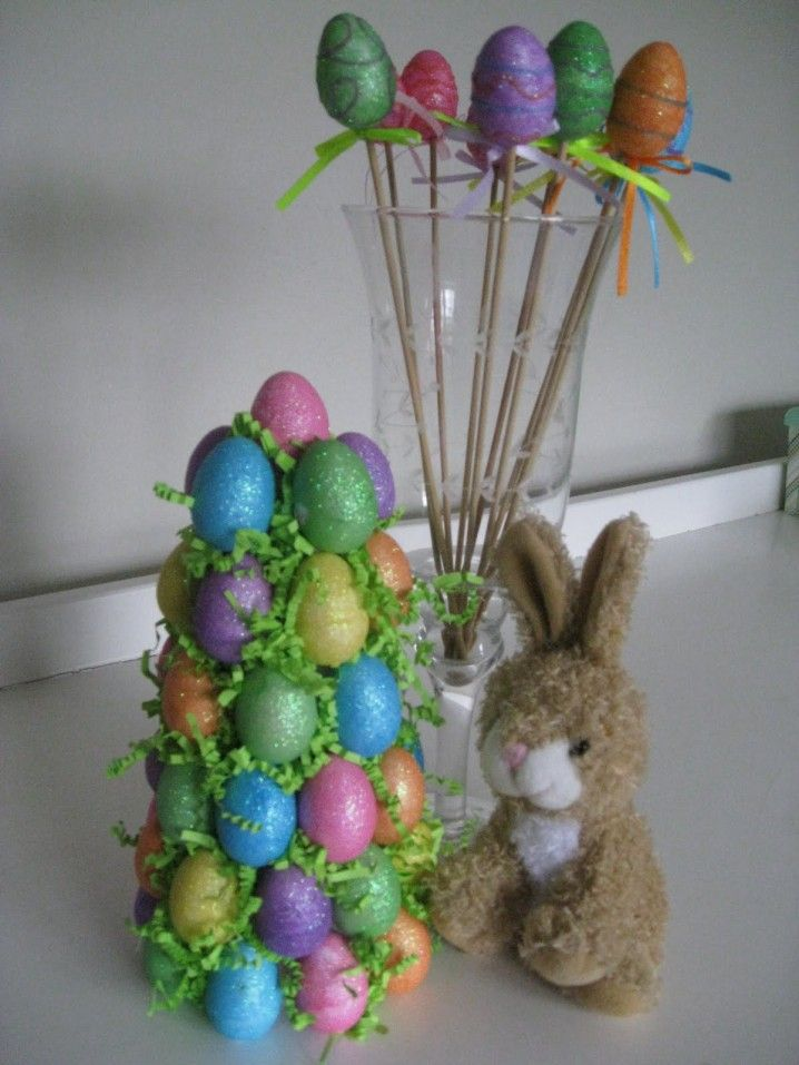 Diy Easter Decorations Easter Egg Tree And Easter On
