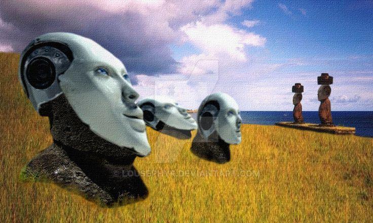 Sky Watchers 2 by lousephyr.deviantart.com on @deviantart  Android faces;  darkadathea.deviantart.com/art…