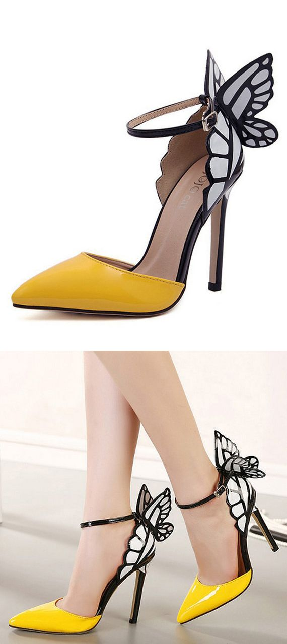 I'm not a big fan of butterflies but these shoes are beautiful!!!