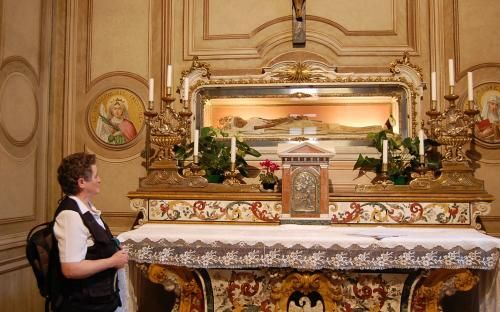 The body of St. Angela Merici, just outside of Milan.