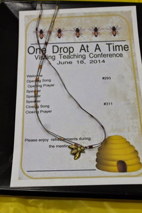 "Relief Society in a Small Branch: January 18, 2015- ""One Drop At A Time""- Visiting Teaching Conference"