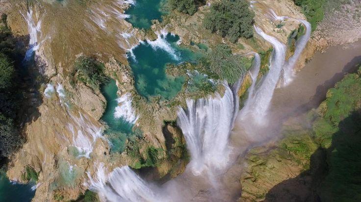 La Cascada de Tamul en un hermosamente asombroso video aéreo