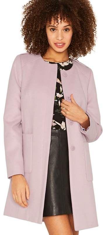 1ea7d9c81e56 OASIS Oasis - Lilac Collarless Coat | Women's Hot Fashion | Coat ...