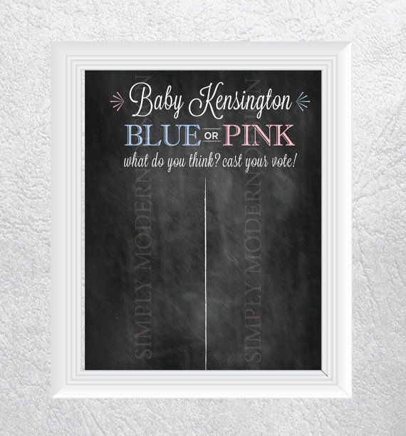 My Favorite! chalkboard gender reveal party cast your by xSimplyModernDesignx, $10.50
