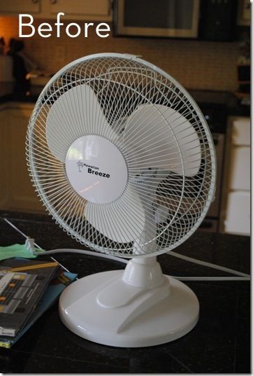 Spray paint your cheap white fan. Awesome, I was looking for more things to spray paint.