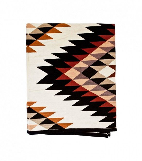 The Citizenry Estrellas Peruvian Rug is exquisitely handwoven with a modern geometric design