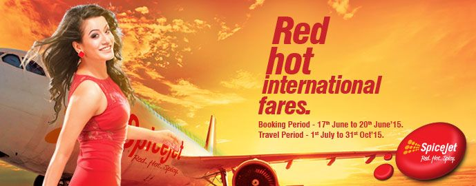 For 3099/- Spicejet International Air tickets starting @ 3,099 all-in At Spicejet.