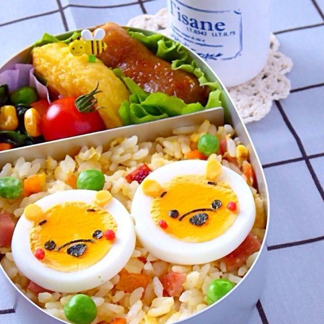 キャラ弁☆ゆで卵で簡単プーさんトッピングの作り方(初級)