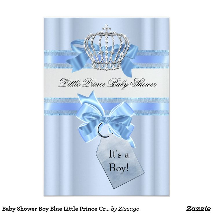 118 best cards zazzle images on pinterest baby shower invitations baby shower boy blue little prince crown sml 35x5 paper invitation card filmwisefo Gallery