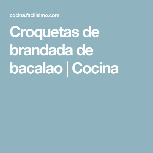 Croquetas de brandada de bacalao | Cocina