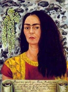 Self Portrait with Loose Hair, Autorretrato con el Pelo Suelto, Frida Kahlo, C0560