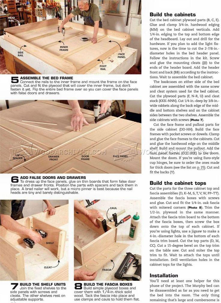 #3036 Build Murphy Bed - Furniture Plans