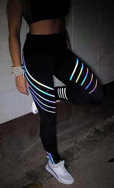 00a00f535b03d Glowing Reflective Rainbow Yoga Workout Leggings in 2019 | Fitness Fashion  | Workout leggings, Womens workout outfits, Women's leggings