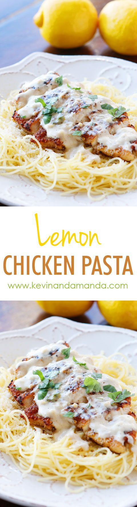 Love crispy garlic chicken and buttery lemon noodles? You will love this creamy Lemon Chicken Pasta Recipe!