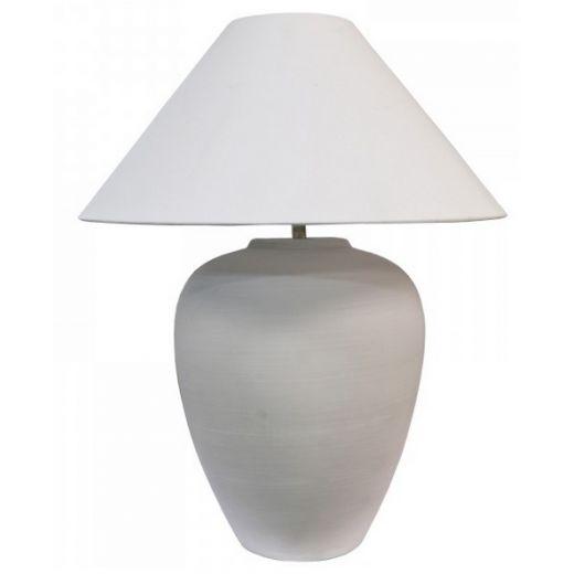 Dakota Ceramic Lamp White