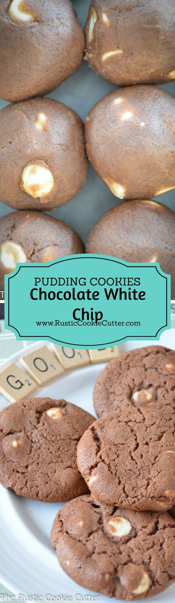 Super Soft & Chewy Chocolate Pudding Cookies - Chocolate White Chip Cookies