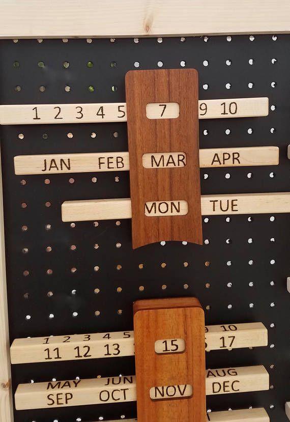 Perpetual Wood Calendars Wall Calendar In 2020 Wood Calendar