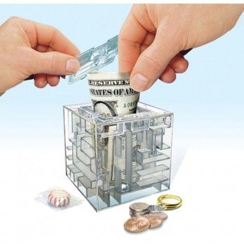 Piggy bank maze and the o 39 jays on pinterest for Maze coin bank