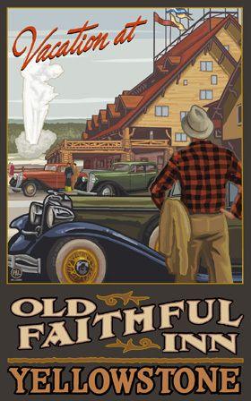 PAL-0053 Yellowstone National Park Old Faithful Inn - Northwest Art Mall