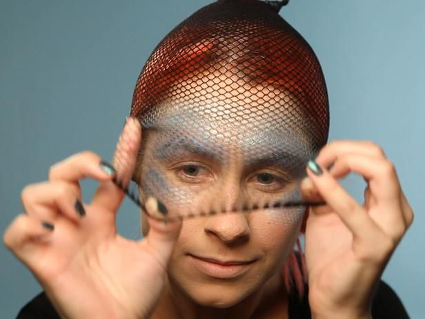 Mermaid Face Paint With Fishnets