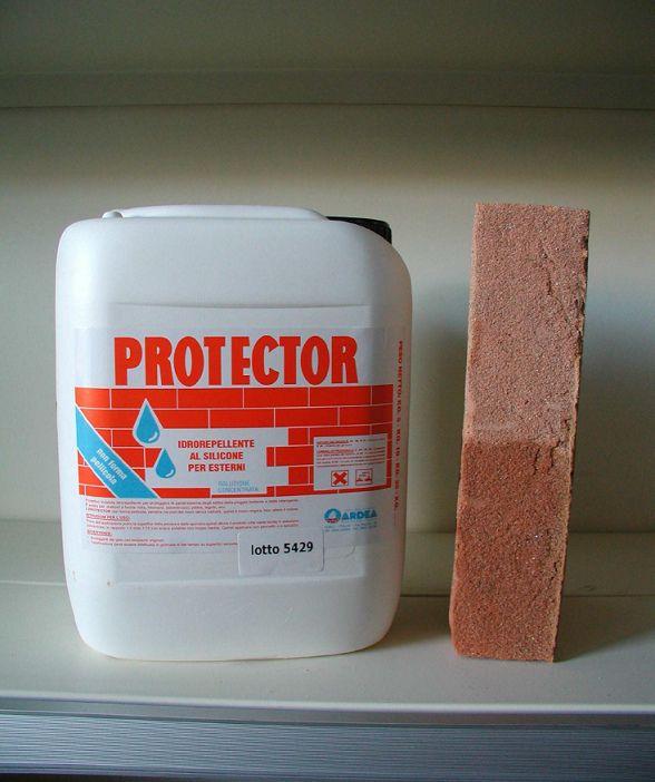 Protector - impregnante idrorepellente impermeabilizzante siliconico invisibile per cotto mattoni pietre tegole ecc.