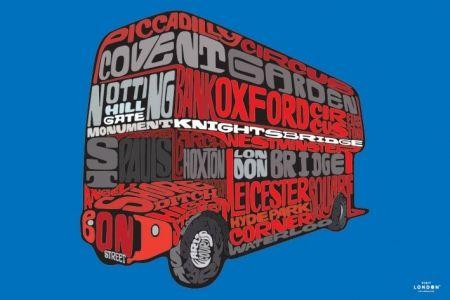 Visit London (Routemaster) - plakat - 91,5x61 cm  Gdzie kupić? www.eplakaty.pl