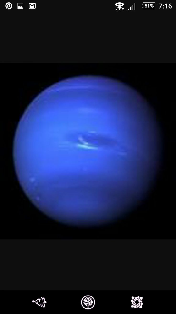 Neptune is the eighth and farthest known planet from the Sun in the Solar System. In the Solar System, it is the fourth-largest planet by diameter, the third-most-massive planet, and the densest giant planet.Wikipedia  Radius:24,622km  Length of day:0d 16h 6m  Orbital period:165years  Mass:1.024 × 10^26kg (17.15M⊕)  Moons:Triton,S/2004 N 1,Laomedeia,Thalassa,Halimede,Nereid,Psamathe,Proteus,Despina,Larissa,Naiad,Sao,Neso,