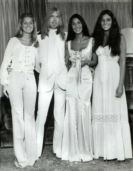 Cher & Gregg Allman's wedding.  Married in 1975 and divorced in 1979. One child, Elijah Blue Allman, born July 10, 1976